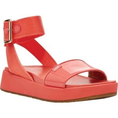 アグ レディース サンダル シューズ Lennox Ankle Strap Sandal Pop Coral Synthetic Patent Leather/Textile