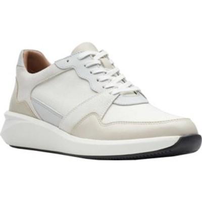 クラークス レディース スニーカー シューズ Un Rio Run Sneaker White Textile/Suede