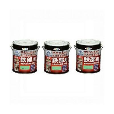 Asahipen(アサヒペン) 油性高耐久鉄部用 ライトグリーン 1.6L 【まとめ買い3缶セット】