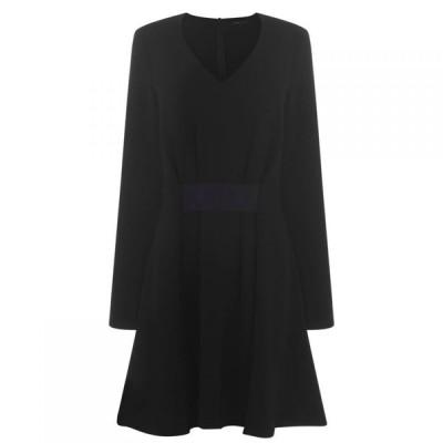 アルマーニ Armani Exchange レディース ワンピース ワンピース・ドレス AX Long Sleeve Drs Black