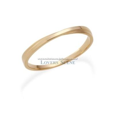 リング K10 ピンクゴールド レディース LSR0604PK Lovers & Ring 素材が選べるペアリング 女性 彼女 妻 誕生日プレゼント