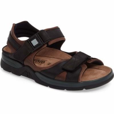 メフィスト MEPHISTO メンズ サンダル シューズ・靴 Shark Sandal Brown/Black