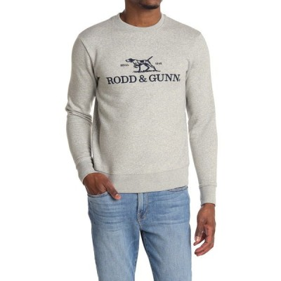 ロッドアンドガン メンズ パーカー・スウェットシャツ アウター Embroidered Logo Sweatshirt ASH