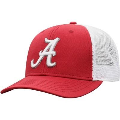 トップオブザワールド Top of the World メンズ キャップ トラッカーハット 帽子 Alabama Crimson Tide Crimson/White Trucker Adjustable Hat