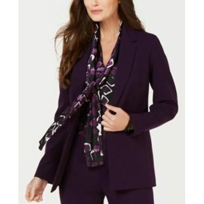 Nine West ナインウエスト ファッション 衣類 Nine West Womens Jacket Purple Size 2 Seamed Dual Pocket One Button