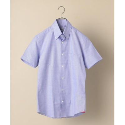 【シップス】 SD: アイス コットン カラミ ショートスリーブ シャツ メンズ ブルー SMALL SHIPS