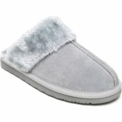 ミネトンカ MINNETONKA レディース スリッパ シューズ・靴 Chesney Mule Slipper Ice Grey Suede