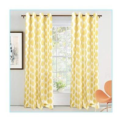 新品DriftAway Allen Ikat Polka Dot Room Darkening and Thermal Insulated Grommet Unlined Window Curtains Set of 2 Panels 52 Inch by 84 Inch