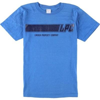 80年代 チャンピオン Champion トリコタグ プリントTシャツ USA製 メンズS ヴィンテージ /eaa159821