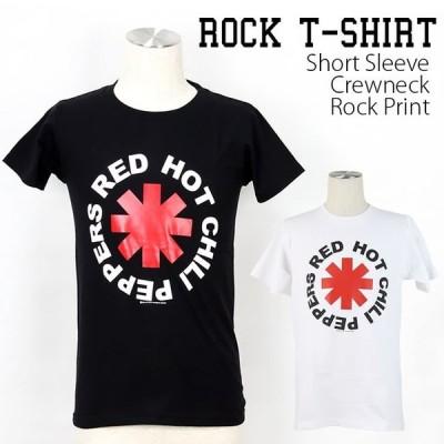 ロックtシャツ バンドtシャツ パンク Red Hot Chili Peppers お馴染みマーク Sサイズ Mサイズ Lサイズ 黒色 白色 茶色 青色