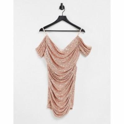 ジェイデッドローズ Jaded Rose レディース ワンピース ミニ丈 ワンピース・ドレス Off Shoulder Extreme Ruched Mini Dress In Rose Seq