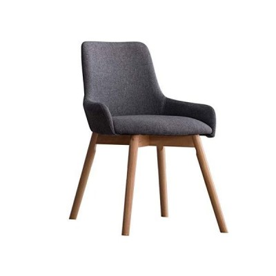 ch-AIR Kitchen and Dining Chairs Ergonomic Chair/Dining Chairs/Makeup Stool/Office Chair, Solid Wood Legs/Cotton Linen, for Restaurant/Pub/C