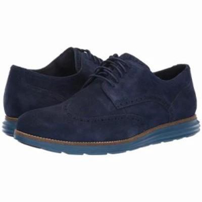 コールハーン 革靴・ビジネスシューズ Original Grand Wingtip Oxford Marine Blue Suede/Stellar