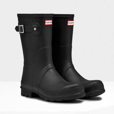 長靴 メンズ レインブーツ メンズ レインシューズ メンズ MFS9000RMA-BLK-12 MENS ORIGINAL SHORT BLACK 12【 ハンター 】【QBJ38】