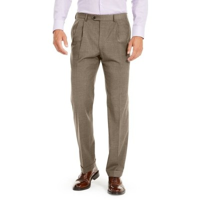 ラルフローレン カジュアルパンツ ボトムス メンズ Men's Wool Blend Classic-Fit UltraFlex Stretch Double-Reverse Pleated Dress Pants Tan