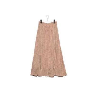 スタイルブロック STYLEBLOCK 模様編みマーメイドスカート (ベージュ)