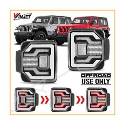 Winjet Renegadeシリーズ [2018 2019 2020 Jeep ラングラー JL] DRL LEDシーケンシャルテールライト(ブラック/クリア反射板