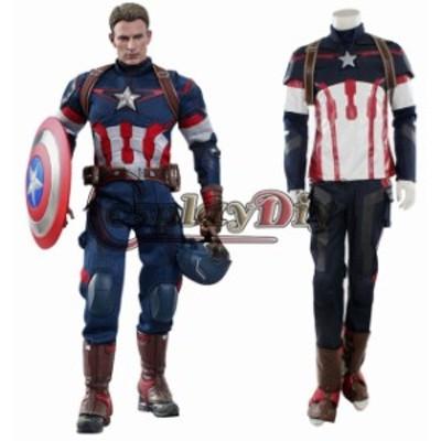 高品質 高級コスプレ衣装 キャプテン アメリカ アベンジャーズ 風 Age of Ultron Avengers Captain America Costume Steve Rogers