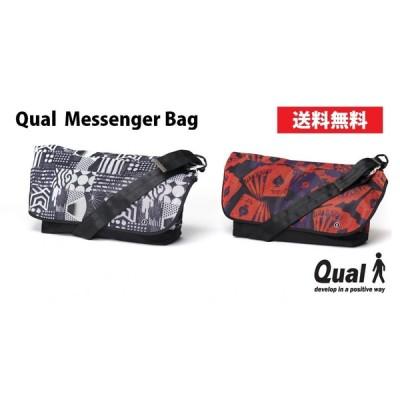 メッセンジャーバッグ メンズ 肩掛け ショルダー Messenger 送料無料 QUAL クアル