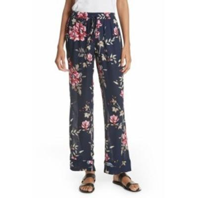 Joie ジョイー ファッション パンツ Joie NEW Blue Womens Size Medium M Silk Drawstring Floral Print Pants