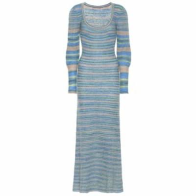 ジャックムス Jacquemus レディース ワンピース ワンピース・ドレス La Robe Perou mohair-blend midi dress stripe blue