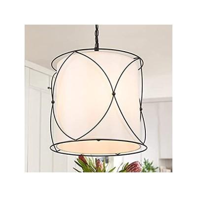 シャンデリア Optimant Lighting Modern 3-Light Chandelier for Dining Room, Metal Cage Lig 並行輸入品