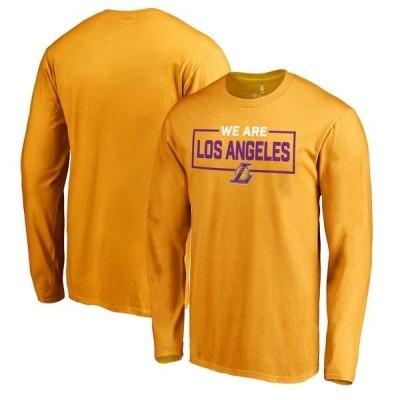 ファナティクス ブランデッド メンズ Tシャツ トップス Los Angeles Lakers Fanatics Branded We Are Iconic Collection Long Sleeve T-Shirt