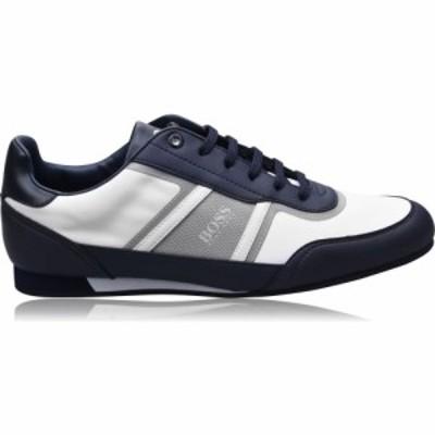 ヒューゴ ボス BOSS メンズ スニーカー シューズ・靴 lighter low nylon synthetic trainers White/Navy