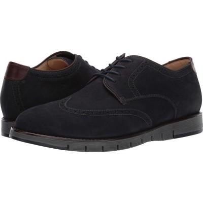 ジョンストンアンドマーフィー J&M Collection メンズ 革靴・ビジネスシューズ ウイングチップ シューズ・靴 Martell Wingtip Navy 1