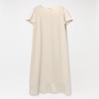 【L】バックサテンジョーゼットドレス