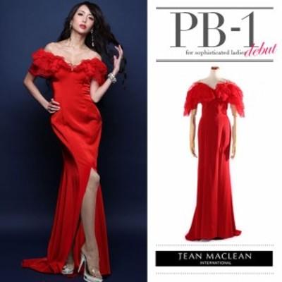 JEANMACLEAN ドレス ジャンマクレーン キャバドレス ナイトドレス ロングドレス jean maclean レッド 赤 9号 M 71147 クラブ スナック キ