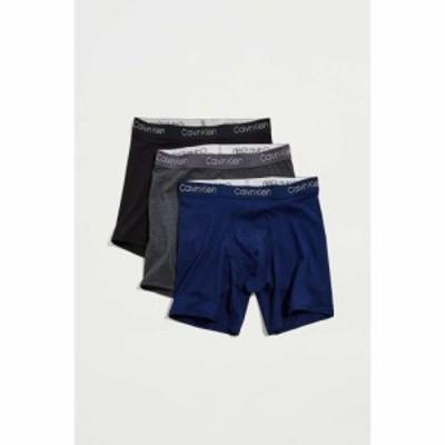 カルバンクライン Calvin Klein メンズ ボクサーパンツ インナー・下着 Lux Pima Cotton Boxer Brief 3-Pack Multi