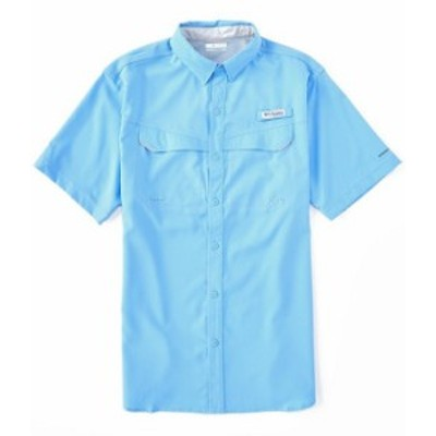 コロンビア メンズ シャツ トップス PFG Low Drag Offshore Short-Sleeve Woven Shirt White Cap