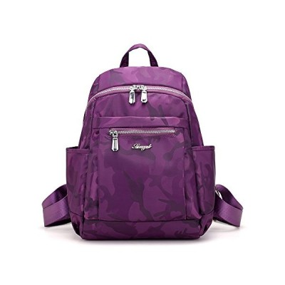 Ivystore Casual Travel Student Small Backpack Nylon Camouflage Double Backpack For Girl (Camouflage Purple) 並行輸入品