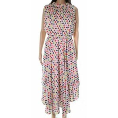 ファッション ドレス Eva Franco NEW White Ivory Polka Dot Womens Size 8 A-Line Dress