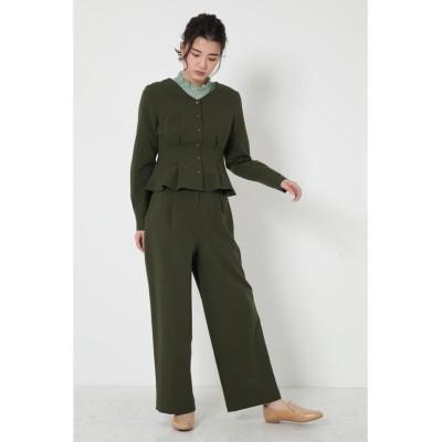 (SHEL'TTER SELECT/シェルターセレクト)タックワイドパンツ(Tuck Wide Trousers)/レディース KHA