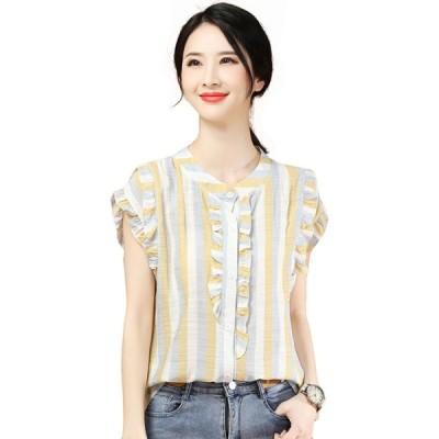エイン A-In Girls レディース ブラウス・シャツ トップス Retro Striped Lace Shirt multi