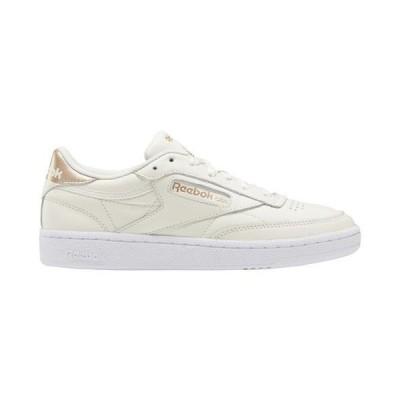 (取寄)リーボック レディース シューズ クラブ C ビンテージ メタリック Reebok Women's Shoes Club C Vintage Metallics Chalk Gold White 送料無料
