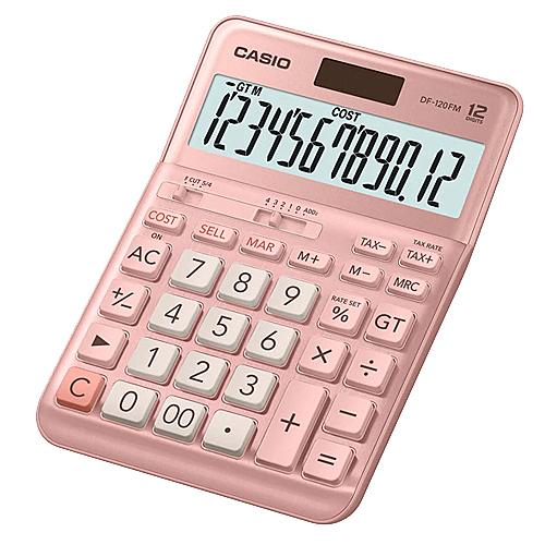 CASIO 卡西歐 12位數桌上型商用計算機 DF-120FM-PK 粉色
