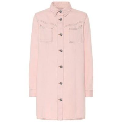 ガニー Ganni レディース ワンピース デニム シャツワンピース ワンピース・ドレス Denim shirt dress silver pink overdyed