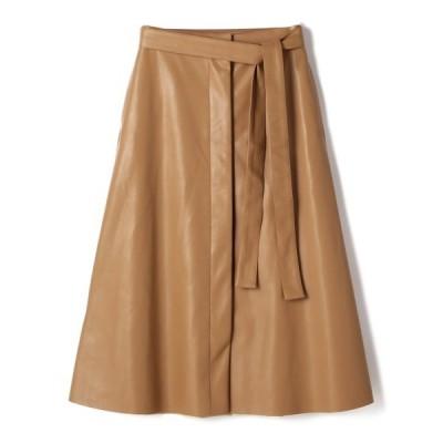 スカート ESTNATION / エコレザーフレアスカート