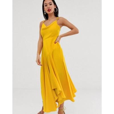 フォーエバーニュー Forever New レディース ワンピース スリップドレス ワンピース・ドレス cowl neck midaxi slip dress in yellow イエロー
