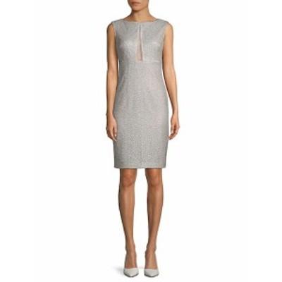 エイダンマトックス レディース ワンピース Metallic Cutout Sheath Dress