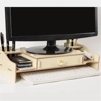 [ゴールド]デスクトップコンピューターライザースタンドテレビLCDスクリーンモニターマウントディスプレイデスクオーガナイザーモニターブラケット