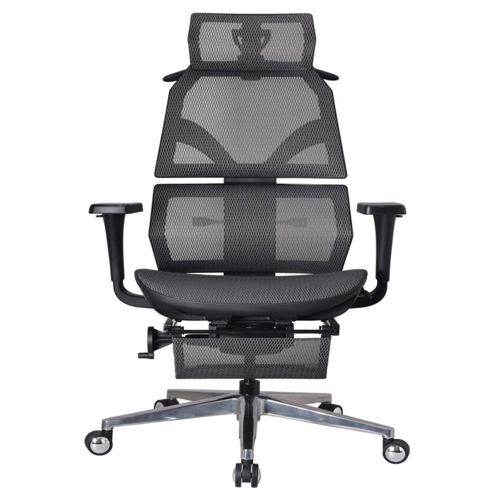 艾索人體工學椅ESCL-A77 灰/網坐墊(免安運)