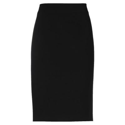 ジョルジオ アルマーニ GIORGIO ARMANI ひざ丈スカート ブラック 48 ポリエステル 89% / ポリウレタン 11% ひざ丈スカート