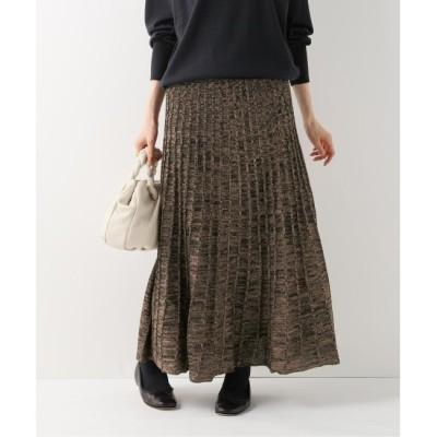 【イエナ/IENA】 【MARILYN MOON/マリリンムーン】 ラメリブニットスカート
