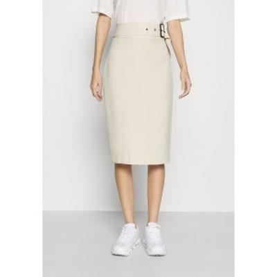 フォース アンド レックス レディース スカート ボトムス SKIRT - Pencil skirt - cream cream