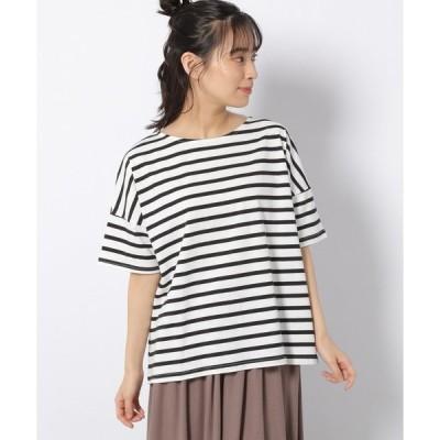 tシャツ Tシャツ ボーダー柄ワイドシルエットTシャツ / 950777