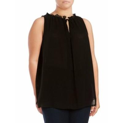 マックススチューディオ レディース トップス シャツ Plus Size Solid Sleeveless Blouse